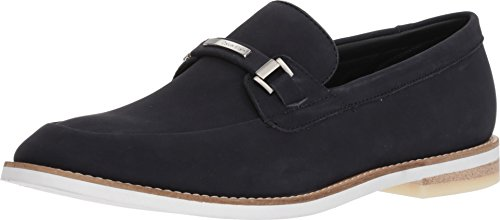 Calvin Klein Men's Adler Loafer Flat, Dark Navy, 9.5 M US by Calvin Klein