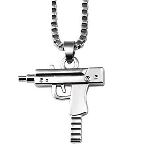- Memorial Urn, 18K Gold Uz Gun Machine Gun Pendant Europe And America Men And Women Hip-hop Rap Jewelry Titanium Steel Submachine Gun Necklace Clavicle Chain Necklace Gift To Friends Golden Pendant + G