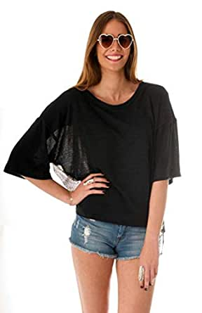 Hipster Eb1Cnl-S Blouse Top For Women - S, Black And Navy Blue