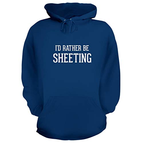 BH Cool Designs I'd Rather Be SHEETING - Graphic Hoodie Sweatshirt, Blue, Large