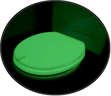 Risk Reactor Inc. Elongated Yellow Green Glow in The Dark Phosphorescent Toilet Seat by Risk Reactor Inc.
