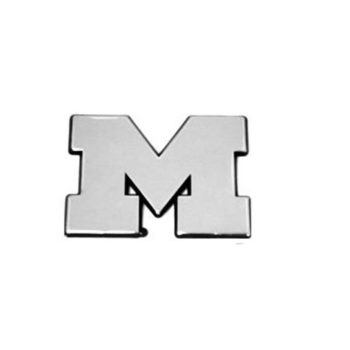 Patch Collection Michigan Wolverines Solid Metal Chrome Plated Car Auto Emblem
