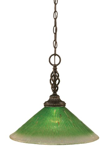 Dark Green Pendant Light in US - 6