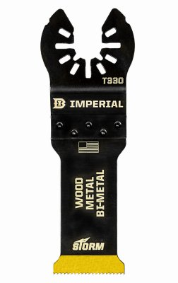 Imperial Blades IBOAT330-1 Oscillating Tool Blade, Bi-Metal Tin Storm Blade, 1.25-In. - Quantity 25