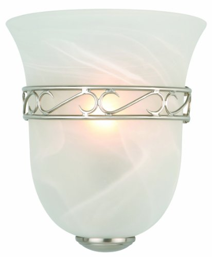 Design House 514588 Marlowe 1 Light Wall Light, Satin Nickel