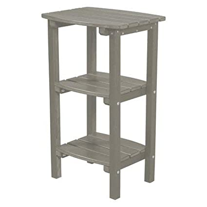 Amazon Com Home Haven Llc Adirondack Side Table With Shelves 2