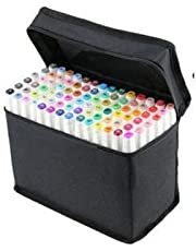 Scienish 80 Colors Art Sketch Drawing Twin Marker Paiting Pen Set White