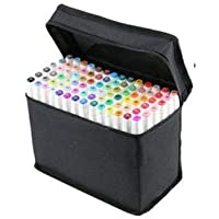 80 Colors Art Sketch Drawing Twin Marker Paiting Pen Set White