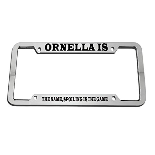 Is Plate Game Name Metal Car Holes Holder Tag Chrome The Ornella Spoiling My 4 License Auto Frame Zinc by7gf6