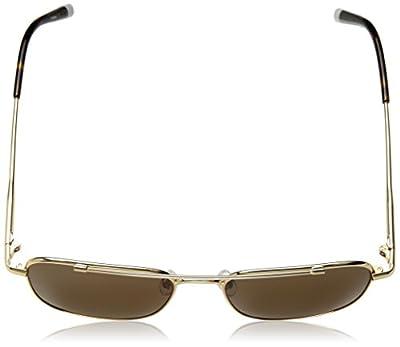 Calvin Klein Unisex Ck2150s Navigator Aviator Sunglasses, Gold, 53 mm