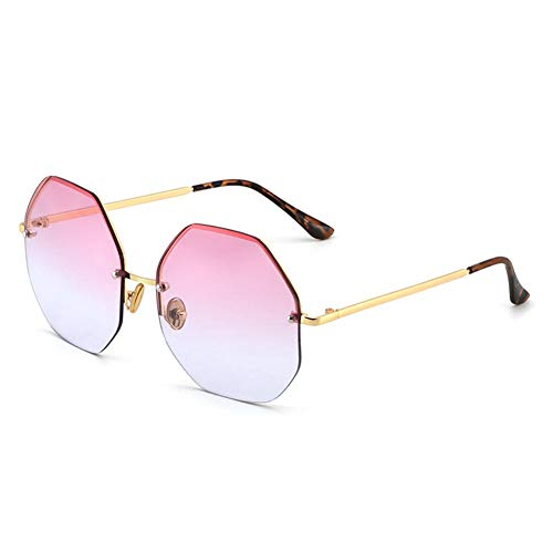 sol color Gafas sol polígono UV gafas de anti de NIFG gradiente de retro de qHafaSE