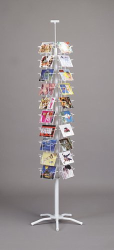 Post Card Spinner Carousel Retail Display Rack White 40 Pocket New
