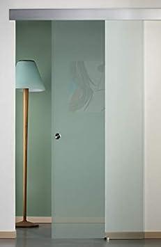 Puerta corredera exterior de cristal satinado 90 x 210: Amazon.es: Bricolaje y herramientas