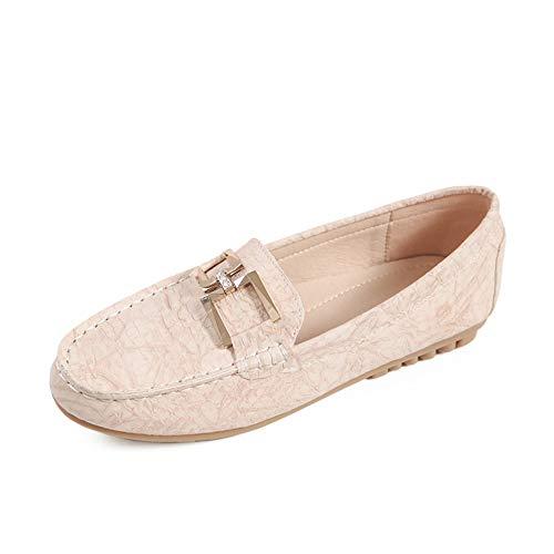 FLYRCX Zapatos de Maternidad Antideslizantes cómodos Zapatos Planos de Trabajo de Moda de Primavera y otoño para Damas, 40 EU 36 EU