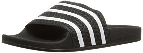 Adidas Black Slides (adidas Originals Men's Adilette Slide Sandal,Black/White/Black,12 M US)