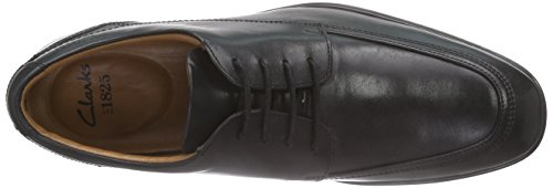 ClarksGosworth Apron - Derby hombre Negro (Black Leather)