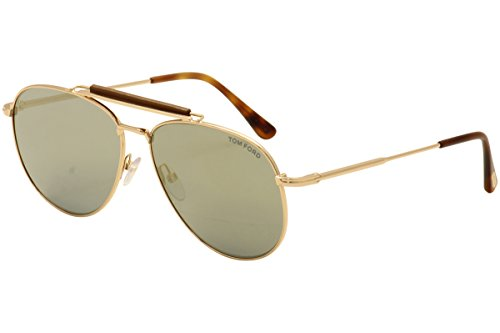 Tom Ford Women's Sean TF536 TF/536 28C Rose Gold/Havana Aviator Sunglasses - Sean Sunglasses