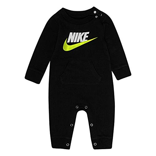NIKE Children's Apparel Baby Thermal Coverall, Black, 3M