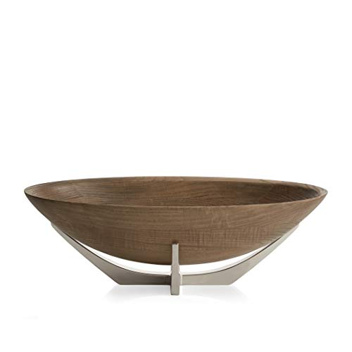 Nambé MT0998 Cabo Oval Serving Bowl, Brown - Large Oval Bowl