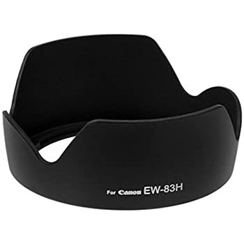 Fotodiox Lens Hood Replacement for EW-83H Compatible with Canon EF 24-105mm f//4L is USM Lens
