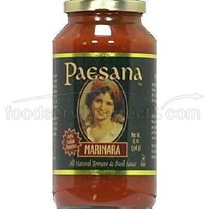 Paesana All Natural Marinara Sauce, 25 Ounce - 6 per case.