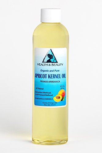 Apricot Kernel Oil Refined Organic Carrier Cold Pressed 100% Pure 8 oz