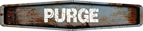 Sign Diamond Shaped - Any and All Graphics Purge Rustic Weathered Metal Look Diamond Shaped 4
