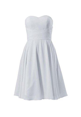 Daisyformals Courte Robe De Soirée Jupe Robe De Demoiselle D'honneur Sans Bretelles (bm8487s) N ° 57-argent