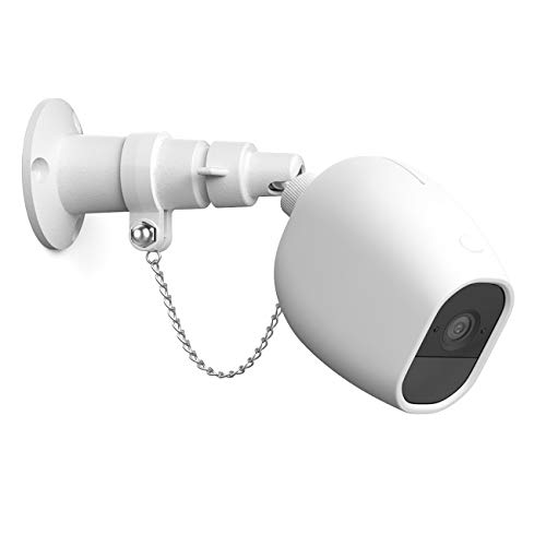 HOLACA Security Outdoor Mount for Arlo Pro Arlo Pro 2 with Anti-Theft Chain,Silicone Protective Case-Extra Protection for Your Arlo Camera (1 Pack, White)