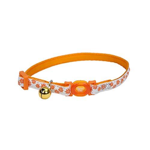 (Safe Cat Glow-in-the-Dark Cat Collar Orange Flower)