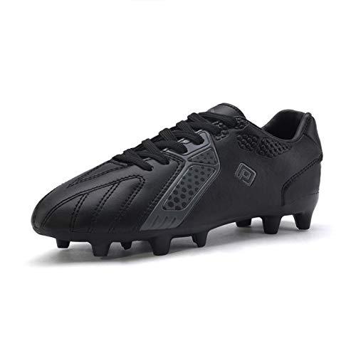 DREAM PAIRS Boys Hz19006k Soccer Football Cleats Shoes Black Dark Grey Size 1 M US Little Kid