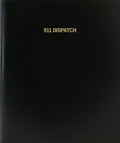 BookFactory 911 Dispatch Log Book / Journal / Logbook - 120 Page, 8.5