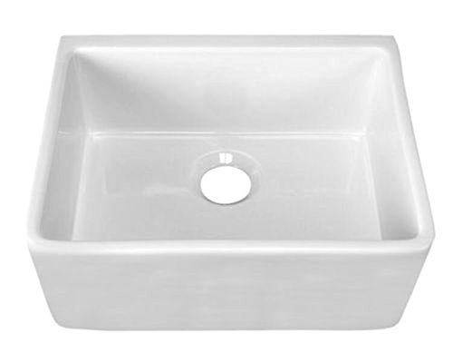 (24 inch Fireclay Farmhouse Apron Kitchen Sink)