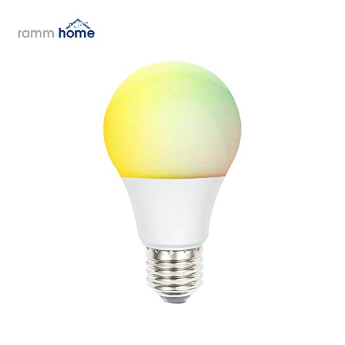 SmartBulb Wi-Fi Connected LED Lamp | Color Changing RGB Dimmable Light Bulb With Adjustable Brightness | Compatible With Amazon Alexa, Android Smartphones & iOSDevices | Control Lights From Distance by Rammhome