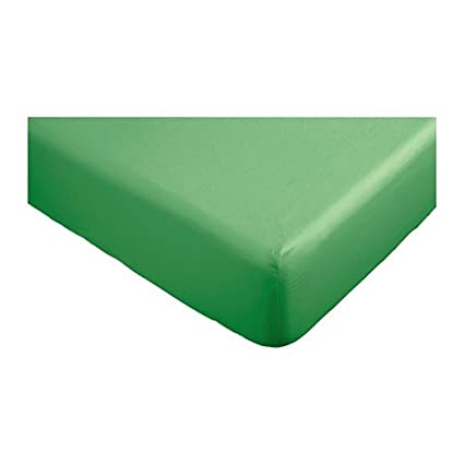 Sábana bajera 90 x 200 cm IKEA DVALA, verde