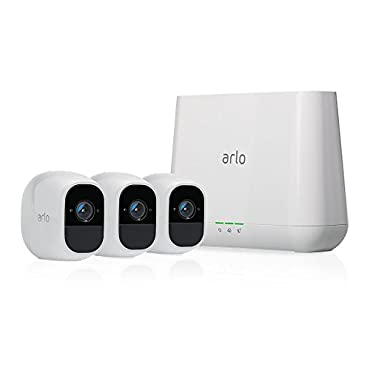 Arlo Pro 2 by NETGEAR Home Security Camera System (3 pack) with Siren, Wireless, Rechargeable, 1080p HD, Audio, Indoor or Outdoor, Night Vision, Works with Amazon Alexa (VMS4330P)