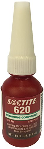 Loctite 234772 Green 620 High Temperature Retaining Compound, 10 mL Bottle (Best Loctite For Firearms)