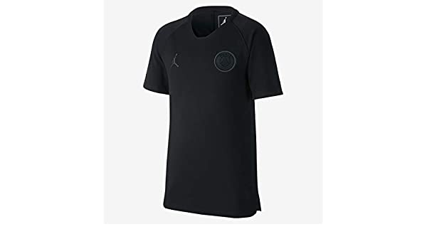 44b6564c080f Amazon.com  Nike Youth Jordan PSG Training Jersey (Black) Size Youth  Medium  Clothing