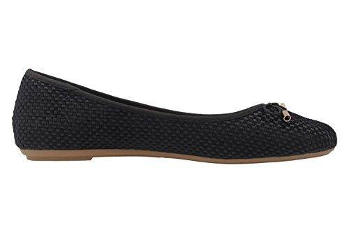 Bailarinas para negro Negro mujer de Fitters Footwear Sintético Material 57f7v4q