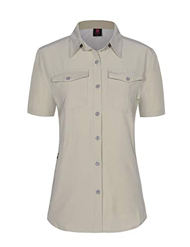 Little Donkey Andy Womens Stretch Quick Dry UPF50+ Short Sleeve Shirt for Hiking, Travel, Camping
