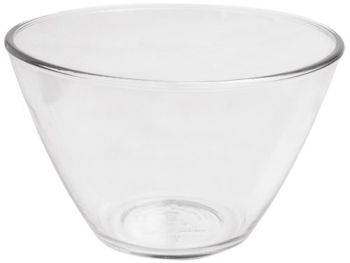 Tall Glass Bowl (Anchor Hocking 4-Quart Splash Proof Glass Mixing Bowls, Set of)