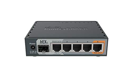 MikroTik hEX S Gigabit Ethernet Router with SFP Port (RB760iGS) by MikroTik