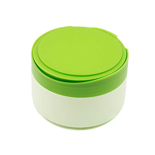 1PCS Large Capacity After-Bath Powder Puff Box Holder Case Container Empty Baby Body Powder Container With Sponge Bath Powder Puffs And Sifter Toddler Body Care Tools For Home Travel Daily Use (Green)