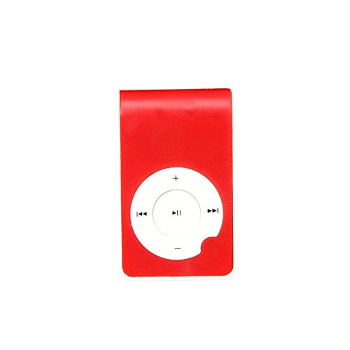 Mandy Mini Clip Metal USB MP3 Player Red