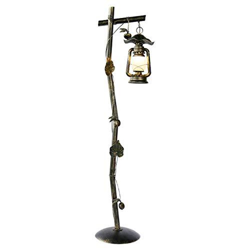 WZLLA Floor lamp- American Personality Retro Creative Floor lamp Hotel Tea Room Coffee Table Decoration lamp, W33cm H162cm (Color : Sweeping Gold, Size : 33x162cm)