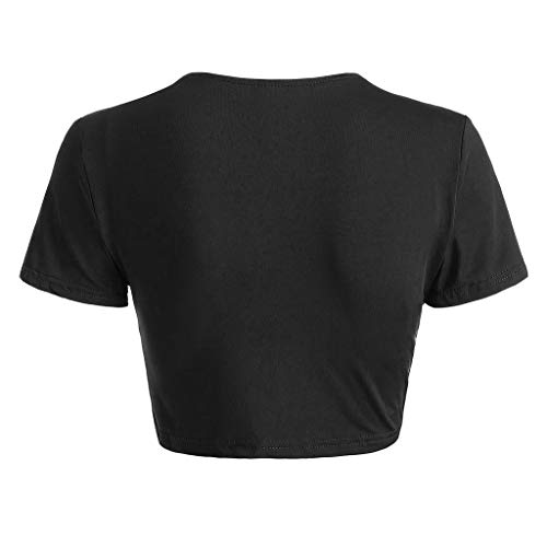 - Women's Vintage V-Neck Twist Wrap Crop Top Summer Top Perfect with Dress