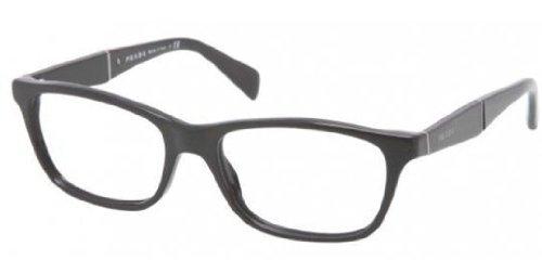 Prada PR14PV Eyeglasses-1AB/1O1 Gloss Black-55mm