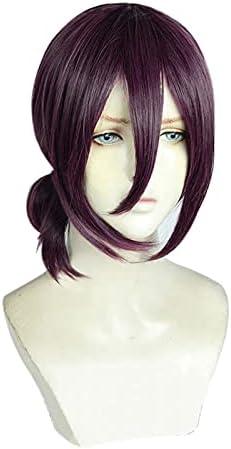 Reze pelucas Cosplay disfraz Anime motosierra hombre púrpura marrón pelo de cola de caballo Pelucas Halloween carnaval fiesta juego de roles