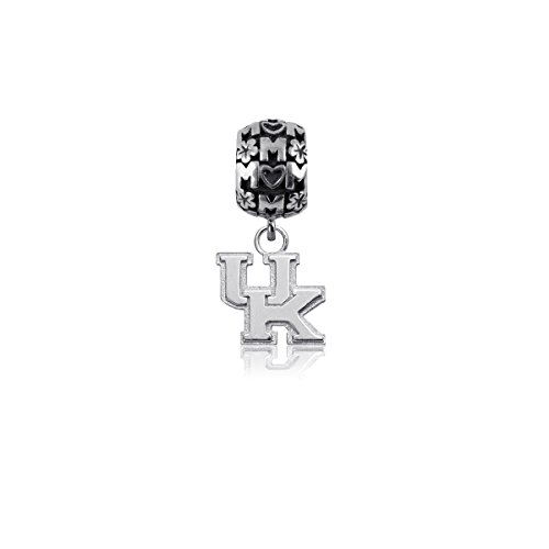 (University of Kentucky Wildcats UK Sterling Silver Jewelry by Dayna Designs (Mom Charm Bead))