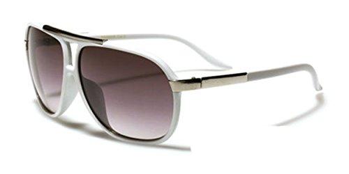 Aviator Vintage Womens Polarized Sunglasses Retro Eyewear (White) - 5